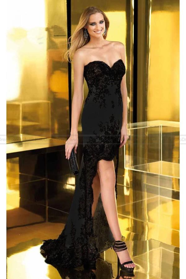 prom dress dress lace black black prom dress
