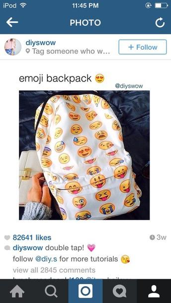 bag emoji print