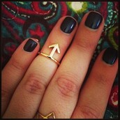 jewels,ring,arrow,dainty rings,fashion jewelry,icifashion,ici fashion,gold ring