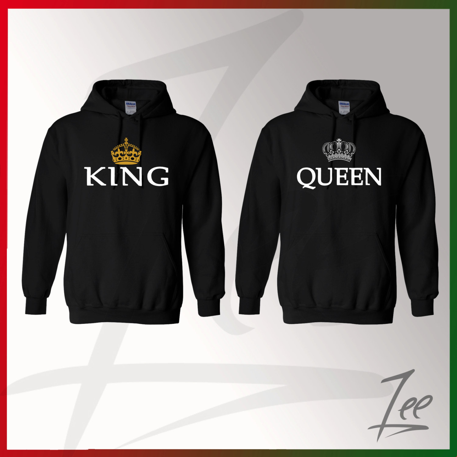 King and Queen, Inspired Soul Mate,Couple sweaters Disney, Funny Couple  hoodies Disney Couple,Matching hoodies