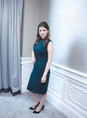 dress,midi dress,anna kendrick,pumps,green,green dress,high neck,high neck dress,turtleneck,bodycon,bodycon dress,midi,party dress,sexy party dresses,sexy,sexy dress,party outfits,summer dress,summer outfits,spring dress,spring outfits,fall dress,fall outfits,classy dress,elegant dress,cocktail dress,cute,cute dress,girly,girly dress,date outfit,birthday dress,summer holidays,clubwear,club dress,celebrity style,celebstyle for less,celebrity,wedding clothes,wedding guest,engagement party dress,romantic,romantic dress,romantic summer dress,dope,emerald green