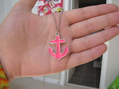 jewels,anchor,pink,hot,jewelry,necklace,hipster,Accessory