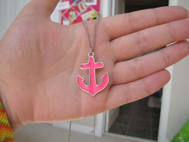 jewels anchor pink hot jewelry necklace hipster Accessory