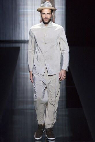 shirt pants milan fashion week 2016 menswear mens shirt runway armani