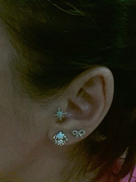 jewels star tragus piercing earing bright