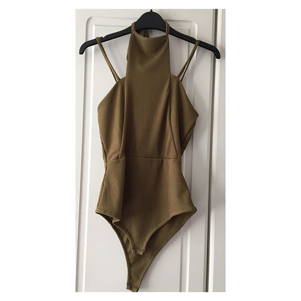top queen clothing uk bodysuit khaki bodysuit