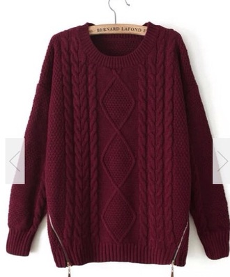 sweater red oversized sweater burgundy