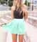 Fashion cute lace chiffon dress