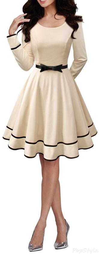 dress black cream white