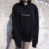 sweater,hoodie,sweatshirt,black,quote on it,goth,letthebirdssing,graphic sweater,alternative,shirt
