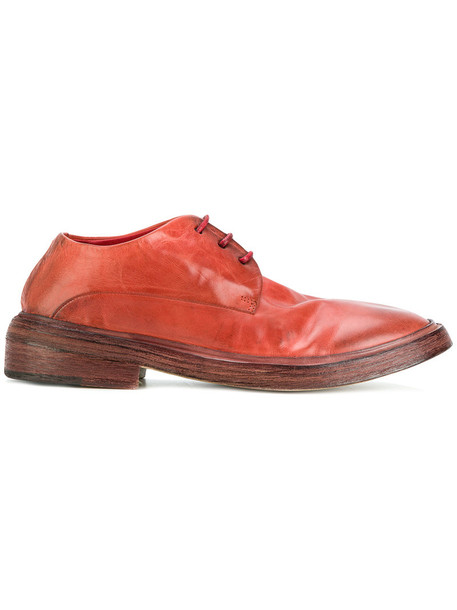 women shoes lace-up shoes lace leather suede red