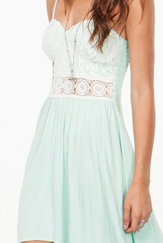 dress mint crochet lace