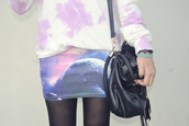 skirt,galaxy print