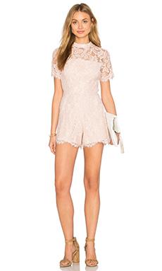Alexis Delfine Romper in Blush Lace from Revolve.com