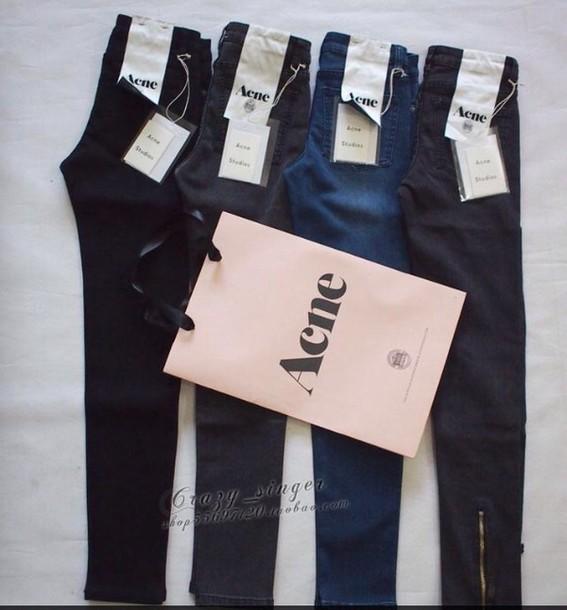 jeans acne studios zip zip zipped pants acne studios jeans zipper jeans  designer designer jeans black 2342f288d03