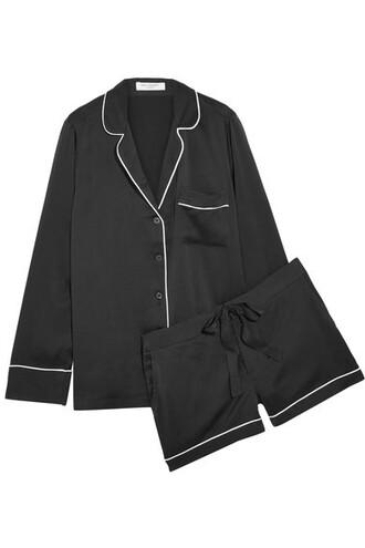 black silk underwear