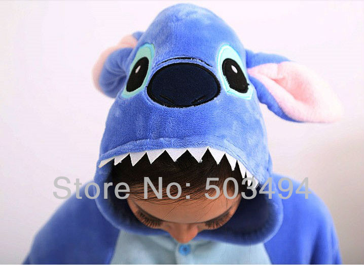 New Arrival Womens Mans Unisex Cute Stitch Animal Hoodie Kigurumi Couple Pajamas set Cosplay Costume Onesie Blue Pink-in Pajama Sets from Apparel & Accessories on Aliexpress.com