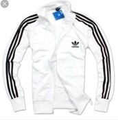 jacket,adidas white zip up