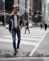 alexander liang,blogger,jacket,jeans,shirt,shoes,sunglasses,belt,menswear,mens jacket,mens shirt,mens jeans,mens shoes,gucci belt,streetwear,70s style,coach,asos,lanvin,rayban,gucci