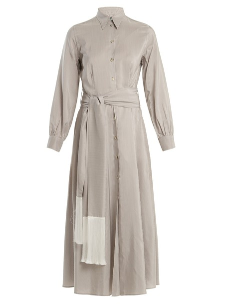 Hillier Bartley dress silk white grey