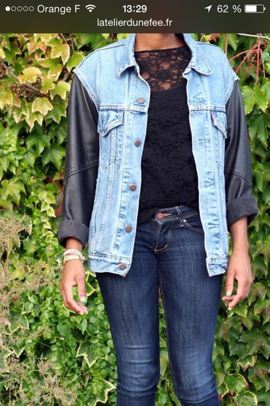 jacket cuir jeans