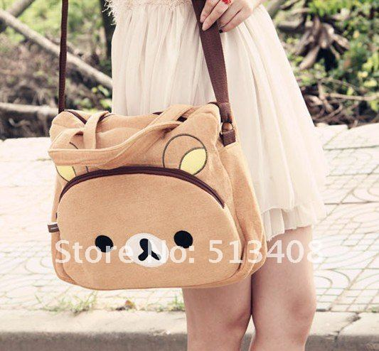 Drop Shipping Cartoon Rilakkuma Bear multifunction shoulder bag.laptop case notebook messenger bag-in Digital Gear Bags from Consumer Electronics on Aliexpress.com