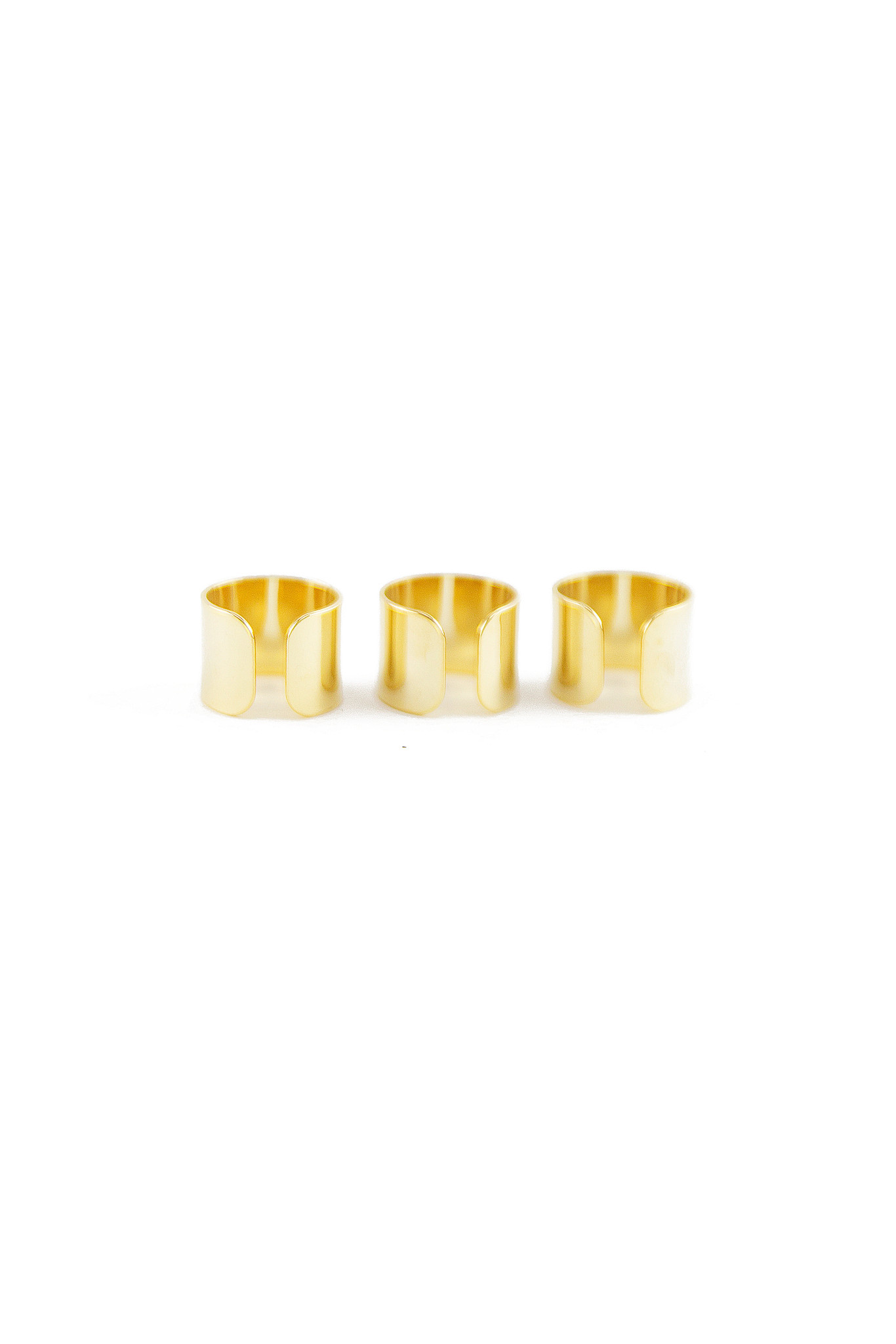 BRAND GOLD PLATED RING SET | Haute & Rebellious