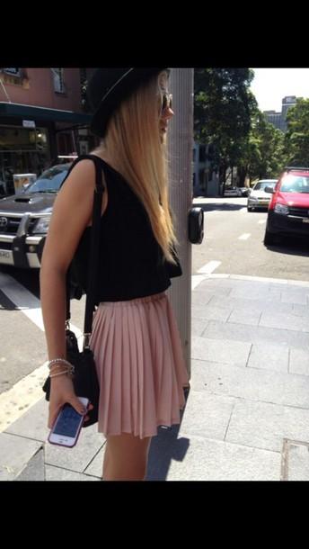 skirt baby pink short skirt