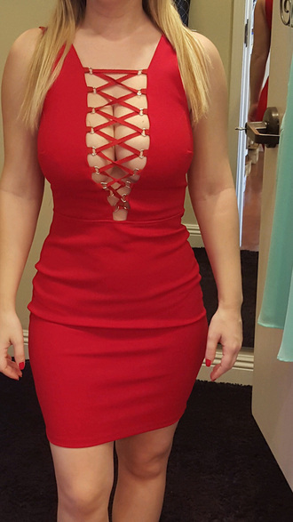 dress red dress lace dress red bodycon