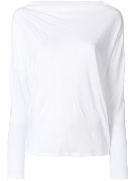 Vince top women white cotton