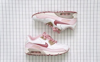 shoes sneakers nike running shoes nike sneakers pink pink and white 90s nike nike running shoes white and pink