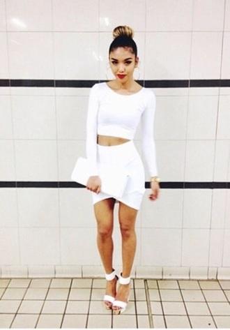 skirt white skirt cute