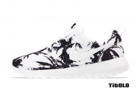 Nike Wmns Rosherun 511882-118 511882 118 White/White-Atomic Mango Palm Palms Tit