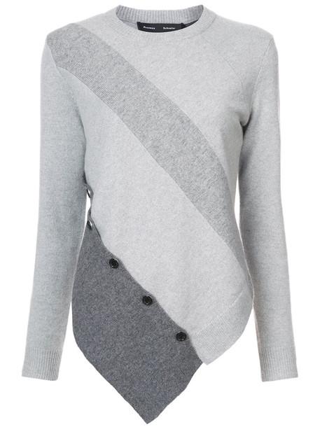 Proenza Schouler sweater asymmetrical women wool grey