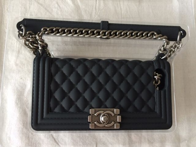 New Stylish Chanel Inspired Le Boy Purse Silicone iPhone 5 5S Case Black | eBay