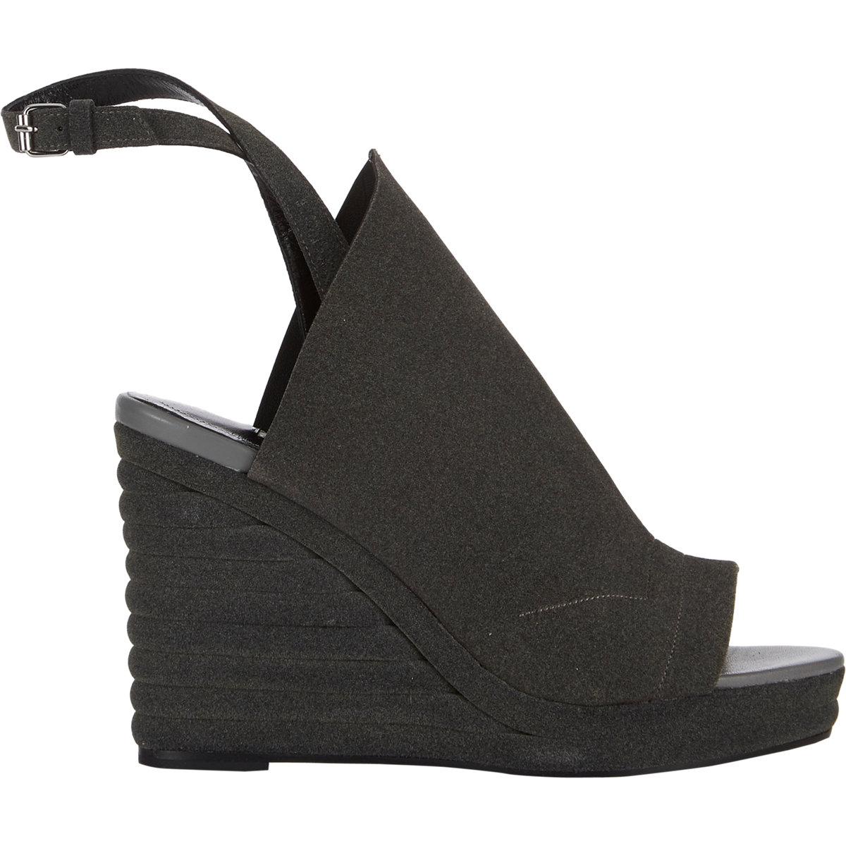 Balenciaga glove wedge sandals at barneys.com