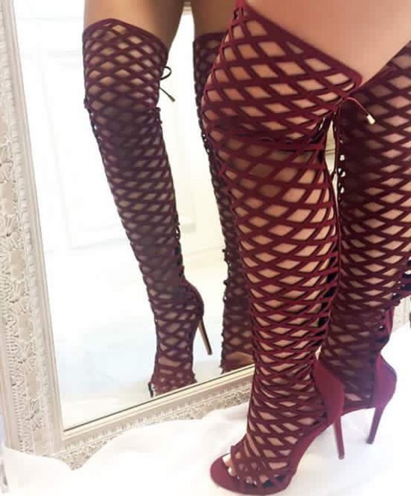 Sexy gold platform heels - 1 8