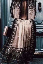 dress,gold,embellished dress,midi dress,party dress,boho chic,backless dress,sequin dress