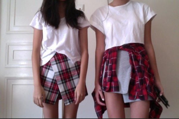 shorts plaid skorts