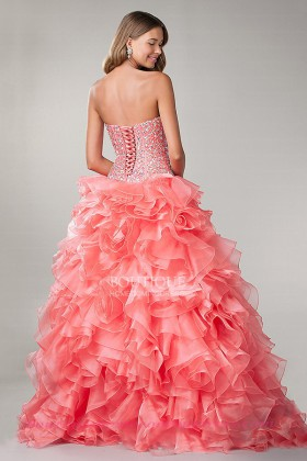 Up water melon 2015 quinceanera dress