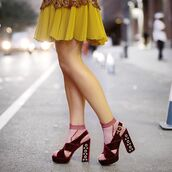 shoes,tumblr,sandals,velvet shoes,velvet sandals,burgundy,sandal heels,high heel sandals,thick heel,block heels,socks and sandals,socks