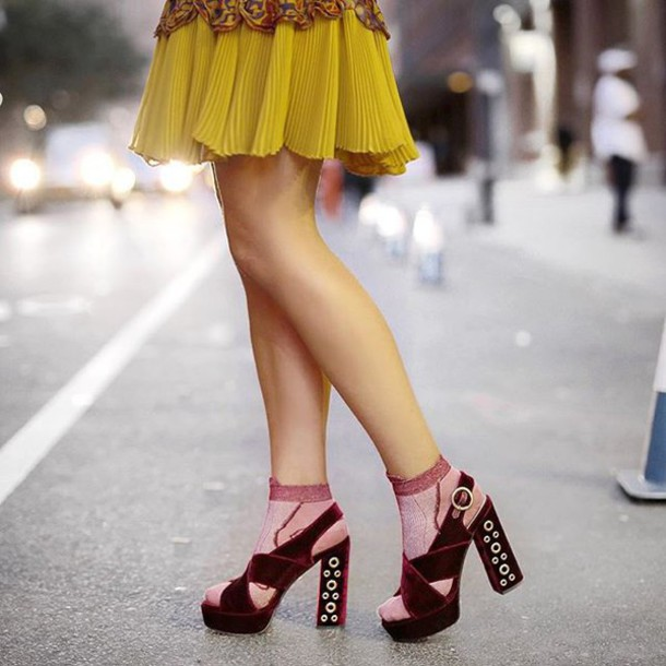 e3fa9982dea shoes tumblr sandals velvet shoes velvet sandals burgundy sandal heels high heel  sandals thick heel block