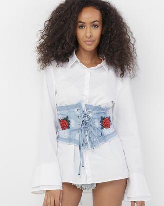 belt corset belt denim denim belt lace up lace up corset lace up belt