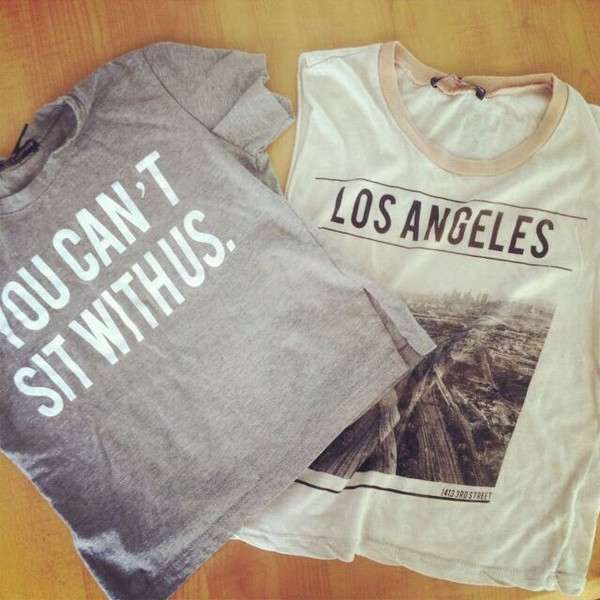 shirt los angeles you cant sit with us