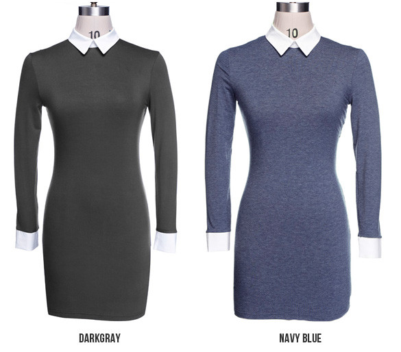Collar midi bodycon dress – outfit made
