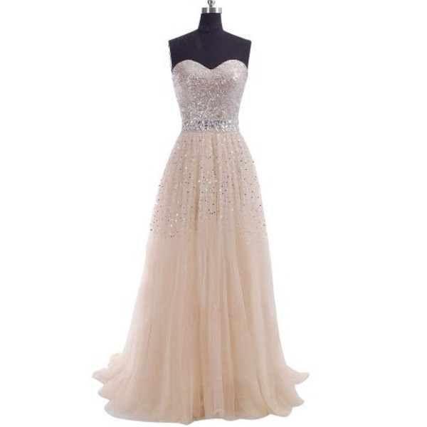 dress prom dress prom long prom dress champaign beaded sweetheart sleeveless long prom dress flowy sparkle glitter pink prom dress pink dress chiffon gems sequins long dress sleeveless sleeveless dress gown maxi formal homecoming dress sparkle silver feminine dressofgirl