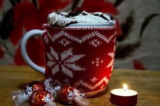 mug cover mug cup cover design hot chocolate snowflake home accessory holiday season holiday home decor lifestyle