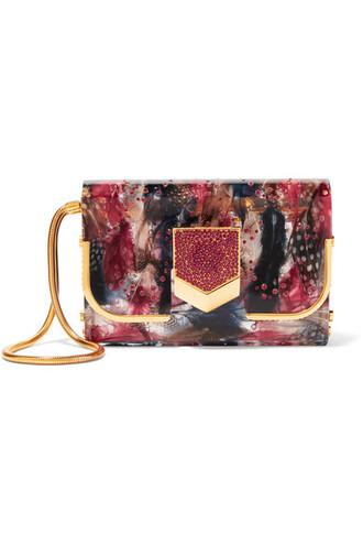 embellished clutch red bag