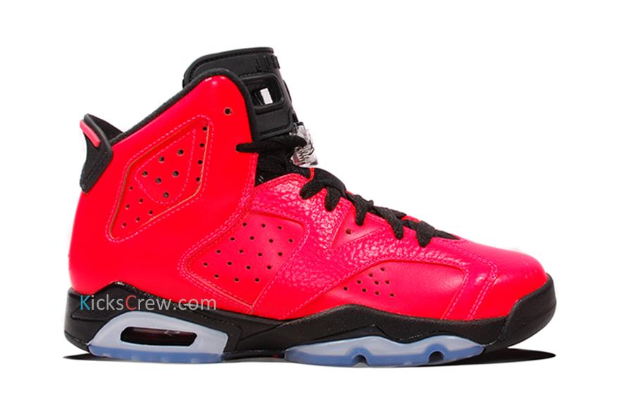 Nike air jordan 6 retro bg infrared 23 384665
