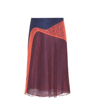 skirt lace skirt lace red